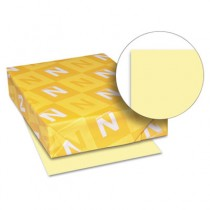 Exact Vellum Bristol Cover Stock, 67 lbs., 8-1/2 x 11, Yellow, 250 Sheets