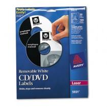Laser CD/DVD Labels, Matte White, 50/Pack