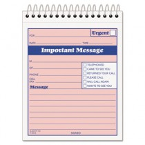 Telephone Message Book with Fax/Mobile Section, 4-1/4 x 5 1/2, Two-Part, 50/Book