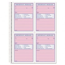 Telephone Message Book, Fax/Mobile Section, 5 1/2 x 3 3/16, Two-Part, 200/Book