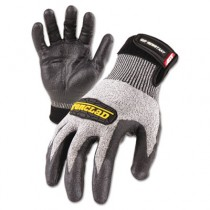 Cut Resistant Stainless Steel, Nylon-Mesh Gloves, Pair, Black, X-Large