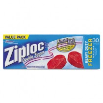 Double Zipper Freezer Bags, 9 3/5 x 12 1/10, 1 gal, 2.7mil