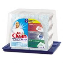 "Magic Eraser Foam Pad, 2 2/5"" x 4 3/5"", Variety Pack, White/Blue"