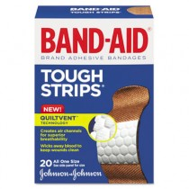 Flexible Fabric Adhesive Tough Strip Bandages, 1 x 3-1/4, 20/Box