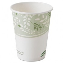 EcoSmart Hot Cups, PLA Lined Paper, Viridian, 8 oz