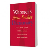 Webster's New Pocket Dictionary, Paperback, 336 Pages