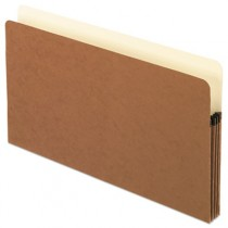 3 1/2 Inch Expansion File Pocket, Manila/Red Fiber, Legal, 25/Box