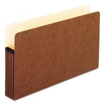 5 1/4 Inch Expansion File Pocket, Manila/Red Fiber, Legal, 10/Box
