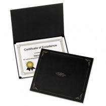 Certificate Holder, 12 1/2 x 9 3/4, Black, 5/Pack