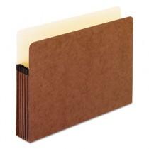5 1/4 Inch Expansion File Pocket, Manila/Red Fiber, Letter, 10/Box
