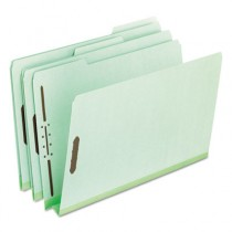 "Pressboard Folders with Two 2"" Capacity Fasteners, Letter, Green, 25/Box"