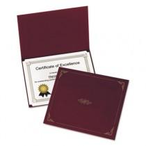 Certificate Holder, 12-1/2 x 9-3/4, Burgundy, 5/Pack