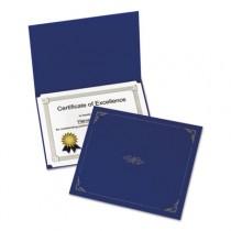 Certificate Holder, 12-1/2 x 9-3/4, Dark Blue, 5/Pack