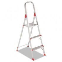 #566 Three Foot Folding Aluminum Euro Platform Ladder, Red