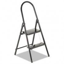 #560 Steel Qwik Step Platform Ladder, 16-7/8w x 19-1/2 Spread x 41h, Black