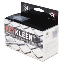 KeyKleen Keyboard Cleaner Swabs, 24/Box