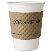 EcoGrip Renewable Resource Compostable/Recyclable Cup Sleeve, Kraft