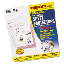 Hvywt Poly Sht Protector, Antimicrobial, Clear, Top-Loading, 11 x 8 1/2
