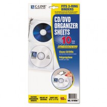 Deluxe CD Ring Binder Storage Pages, Standard, 4 CDs, 5 13/16 x 11 1/16, 10/PK