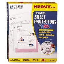 Heavyweight Polypropylene Sheet Protector, Non-Glare, 11 x 8 1/2