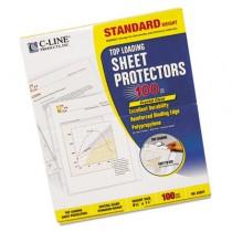 Standard Weight Polypropylene Sheet Protector, Clear, 11 x 8 1/2, 100/BX