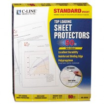 Standard Weight Polypropylene Sheet Protector, Non-Glare, 11 x 8 1/2