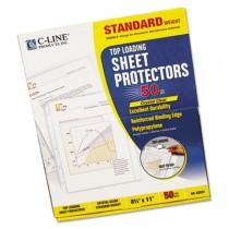 Standard Weight Polypropylene Sheet Protector, Clear, 11 x 8 1/2, 50/BX