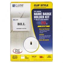 Badge Holder Kits, Top Load, 3 x 4, White, 50/Box