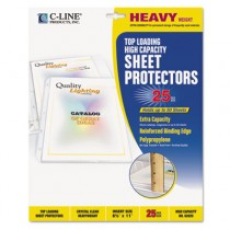 High Capacity Polypropylene Sheet Protectors, Clear, 11 x 8 1/2, 25/BX