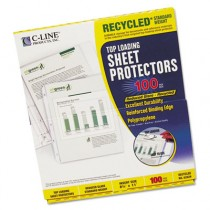 Recycled Polypropylene Sheet Protector, Reduced Glare, 11 x 8 1/2