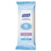 Premoistened Hand Sanitizing Wipes, White, Cloth, Ethyl Alcohol