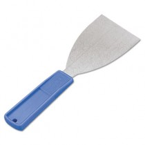 "Putty Knife, 1 1/4""W Blade, Stainless Steel/Polypropylene, Blue"