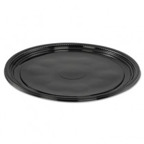 "Caterline Casuals Thermoformed Platters, PET, Black, 12"" Diameter"