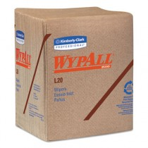 WYPALL L20 Wipers, 2-Ply, Brown, Paper