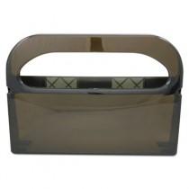 Health Gards Half-Fold Toilet Seat Cover Dispenser, Smoke, 16wx3-1/4dx11-1/2h