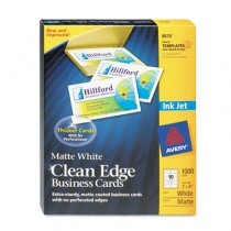 Inkjet Matte Business Cards, 2 x 3 1/2, White, 10/Sheet