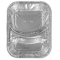 Aluminum Caterware Hamburger Trays, 2-Compartment