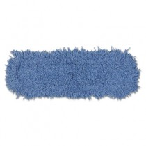 Twisted Loop Blend Dust Mop Head, Natural/Synthetic/Polyester, 5w x 24l, Blue