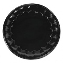 "SmartLock CaterWare Trays, Plastic, Black, 16"" dia"