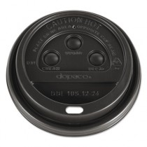 Dome Lids for Hot Paper Cups, For 12, 16, 20, 24oz Cups, Brown, Plastic