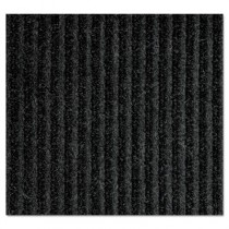 Needle-Rib Wiper/Scraper Mat, Polypropylene, 36 x 48, Charcoal