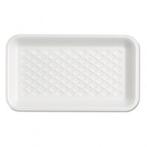 Supermarket Tray, Foam, White, 8-1/4x4-3/4x5/8, 125/Bag