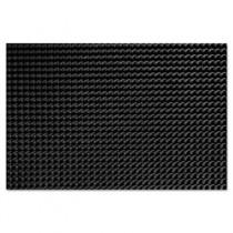 Finger-Tip Indoor/Outdoor Scraper Mat, Molded Rubber, 24 x 32, Black