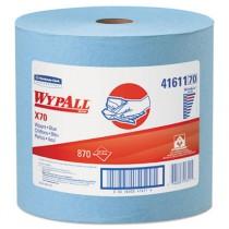 WYPALL X70 Wipers, Jumbo Roll, 12 1/2 x 13 2/5, Blue, 870/Roll
