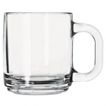 Glass Mugs & Tankards, 10 oz, Clear, Crystal Coffee Mug
