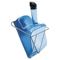 Hand-Guard Scoop with Holder, 74oz, Transparent Blue