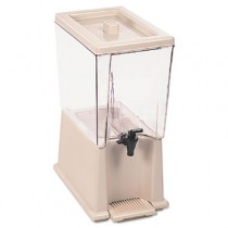 Noncarbonated Beverage Dispenser, 5gal, Clear/Off White