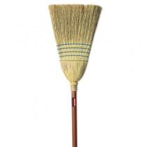 Warehouse Corn-Fill Broom, 38-in Handle, Blue