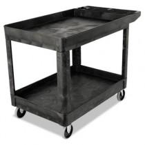 Heavy-Duty Utility Cart, Two-Shelf, 25-7/8 x 45-1/4 x 33-1/4, Black