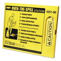 Over-the-Spill Station Kit, Pad Dispenser, 25 Large Pads and Fasteners